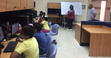 """انطلاق دورة تعليم الأطفال مهارات الكمبيوتر بمكتبة المستقبل """"صور"""""""