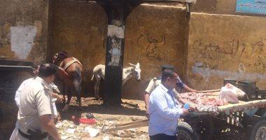 إزالة 180 حالة إشغال فى حملة مكبرة بشارع المطار بمدينة أسوان صور