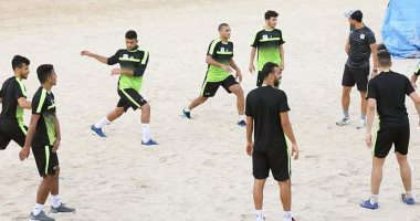 شاهد.. المصرى البورسعيدى يتدرب على شاطئ البحر استعداداً للموسم الجديد