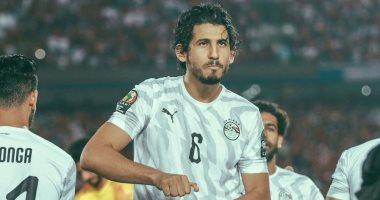 أحمد حجازى يحتفل بتأهل الفراعنة إلى دور الـ16 بالكان