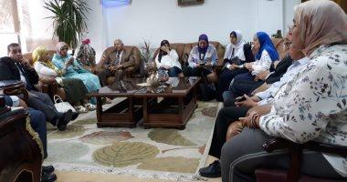 صور .. جامعة قناة السويس تستقبل وحدة إدارة مشروعات تطوير التعليم العالى