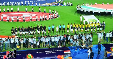 صور.. انطلاق مباراة مصر وجنوب أفريقيا بكأس الأمم الأفريقية