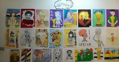 تميمة توت وبورتريه صلاح فى افتتاح معرض أهلا أفريقيا بالإسكندرية (صور)