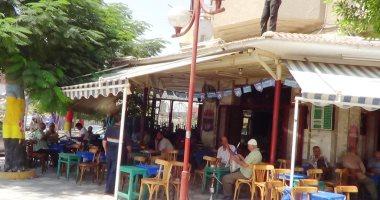 شكاوى من إشغال المقاهى للطريق بالعصافرة فى الإسكندرية