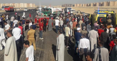 إصابة 10 أشخاص فى حادث تصادم غرب الإسكندرية