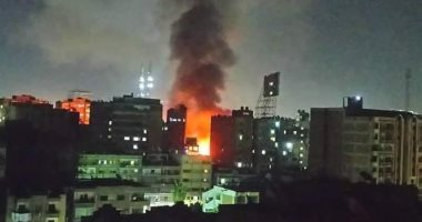 فيديو.. حريق هائل بمقر دير الأنبا بولا فى حدائق القبة