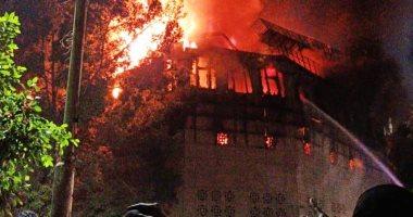 معاينة حريق كنيسة الأنبا بولا بحدائق القبة: ماس كهربائى السبب