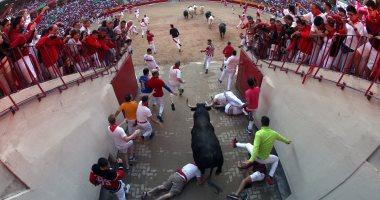 الإصابات تسيطر على مهرجان سان فيرمين للثيران فى إسبانيا