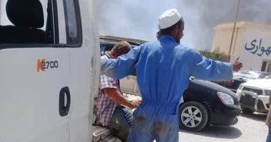 صور.. ارتفاع عدد ضحايا تفجير بنغازى لـ5 أشخاص وإصابة 12 آخرين -
