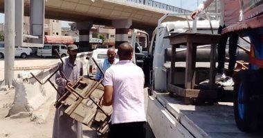 بالصور ..إزالة 310 حالة اشغال فى شوارع وميادين دمنهور