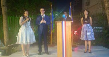 صور.. قنصلية فرنسا بالإسكندرية تحتفل بالعيد الوطنى بحضور السفير