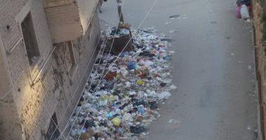 قارئة تشكو من انتشار القمامة بشارع رياض غرابة بجوار المقاولون العرب بطنطا
