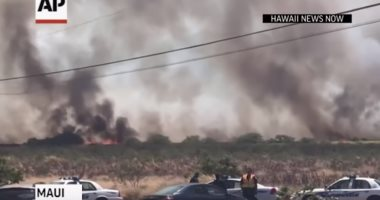 حريق ضخم فى جزيرة ماوى بولاية هاواى الأمريكية.. فيديو