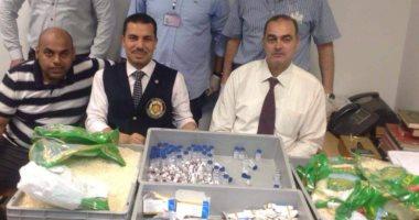 جمارك مطار برج العرب الدولى تحبط تهريب كمية من الأدوية