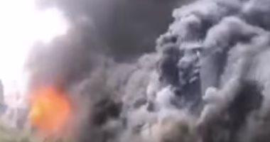 السيطرة على حريق مخلفات بمحيط حديقة الفسطاط دون إصابات