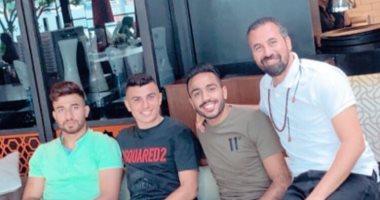 شاهد.. كهربا مع تريزيجيه وكريم حافظ فى تركيا