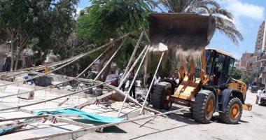 إزالة 27 كشك مخالف فى حملة مكبرة شرق الإسكندرية