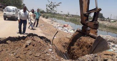 الرى تزيل 3 مخالفات على نهر النيل بمحافظة سوهاج