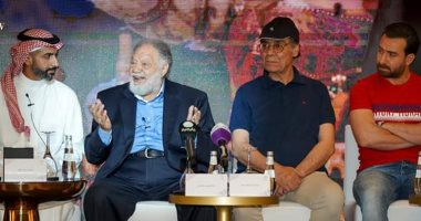 صور.. مؤتمر صحفي لصناع الملك لير في السعودية
