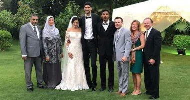 صور.. زفاف أنس أسامة لاعب سلة الزمالك