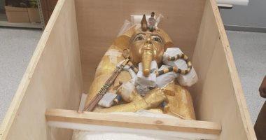 جولة بمركز ترميم المتحف الكبير لاستعراض مراحل ترميم تابوت توت عنخ آمون.. غدًا