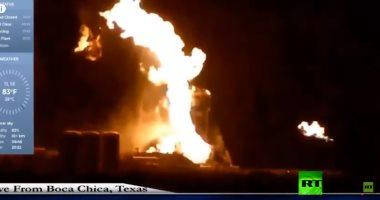 """فيديو.. اندلاع حريق على متن مركبة فضائية تابعة لـ """"سبيس إكس"""""""