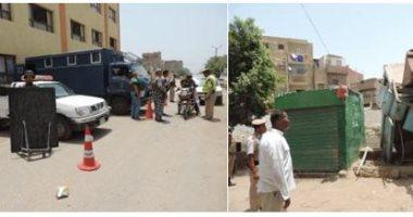 ضبط مواد مخدرة وأسلحة نارية وبيضاء بشارع عثمان محرم فى الطالبية