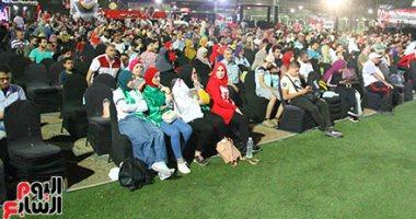 صور.. الجماهير المصرية تحتشد فى مركز شباب الجزيرة لمتابعة نهائى الكان