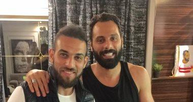أحمد دويدار يزور جنش بعد جراحة أكيلس