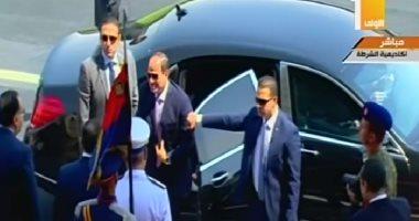 وصول الرئيس عبد الفتاح السيسى أكاديمية الشرطة