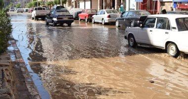 انفجار أطول خط ناقل لمياه الشرب أثناء الاختبار بسوهاج