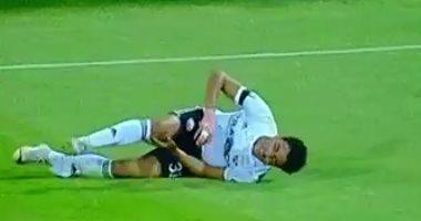 فيديو.. أكرم توفيق يتخلى عن القناع أمام الزمالك