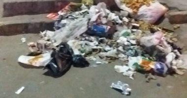 تراكم القمامة فى شارع البطل أحمد عبد العزيز بالمهندسين ومطالب برفعها