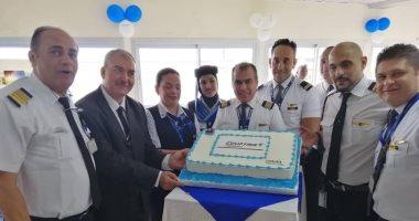 صور.. مطار دوالا بالكاميرون يحتفل باستقباله أولى رحلات مصر للطيران