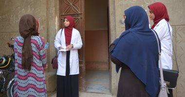 صور.. طلاب صيدلة سوهاج ينظمون حملة توعوية عن الصحة الانجابية