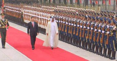 فيديو.. الرئيس الصينى يستقبل الشيخ محمد بن زايد فى قصر الشعب بالعاصمة بكين