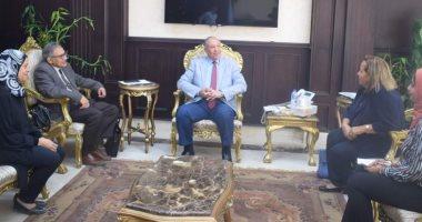 صور.. محافظ البحر الأحمر يلتقى ممثلى منظمة العمل استعدادا لإقامة ملتقى توظيف