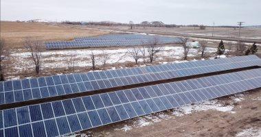 إنشاء أول مزرعة للطاقة الشمسية فى داكوتا الشمالية.. صور
