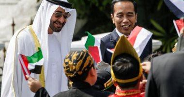 صور.. ولى عهد أبو ظبى الشيخ محمد بن زايد يصل إندونيسيا