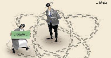كاريكاتير الصحف الإماراتية.. إيران تراوغ الاتحاد الأوروبى