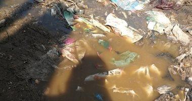 شكوى من مياه المجارى وتراكم القمامة فى شارع أبو خليل بالشرقية