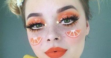 صور.. مكياج الصيف باللون البرتقالى والأصفر لإطلالة مميزة