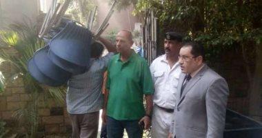 رئيس حى المعادى يقود حملة لإزالة الإشغالات والمبانى المخالفة