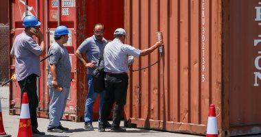 ميناء دمياط يجرى تدريبا عمليا للحاويات المشعة القادمة عبر بضائع الترانزيت