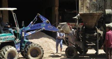 صور.. مصادرة معدات ومواد بناء فى حملة على المبانى المخالفة غرب مدينة نصر