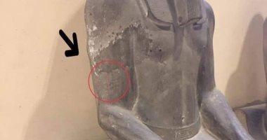 تعرف على حقيقة واقعة تشويه ذراع سنوسرت الأول فى المتحف المصرى بالتحرير