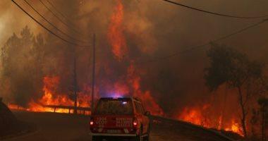 حرائق الغابات تشتعل بجزيرة وابية اليونانية