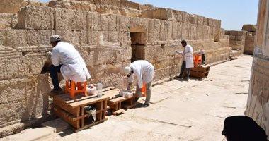 شاهد.. انتهاء أعمال صيانة وترميم معبد بطليموس الثانى عشر باتريبس