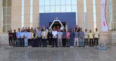"""""""طلاب من أجل مصر"""" بجامعة جنوب الوادى تزور الأكاديمية الوطنية للشباب"""