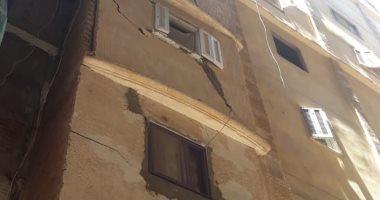 انهيار جزئى بعقار شرق الإسكندرية دون وقوع إصابات